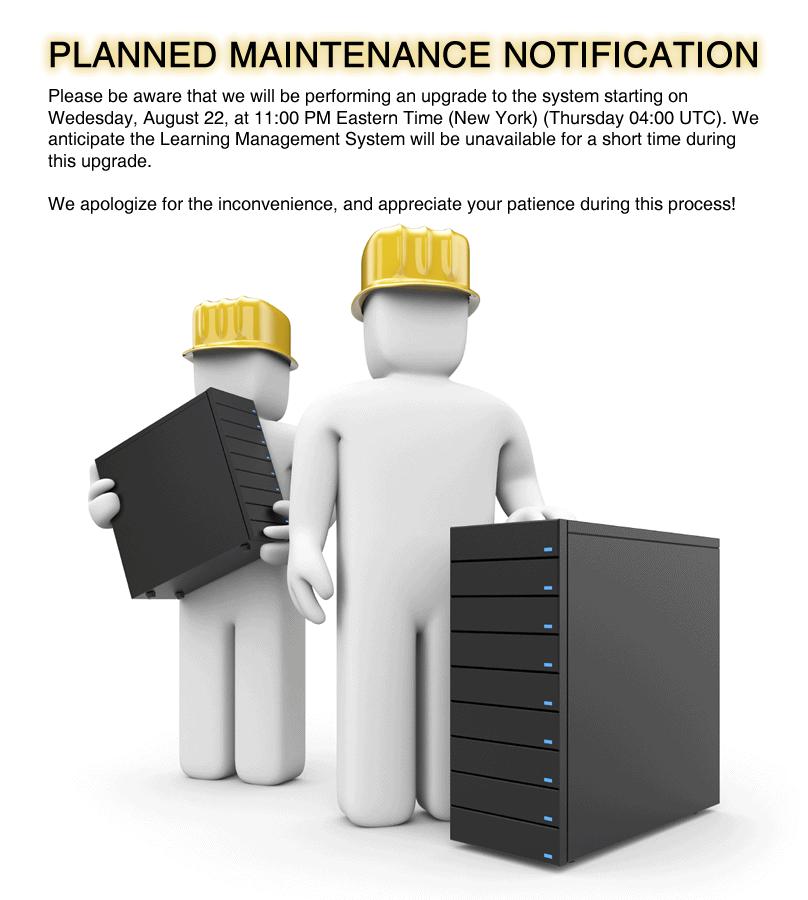Maintenance Alert Notification